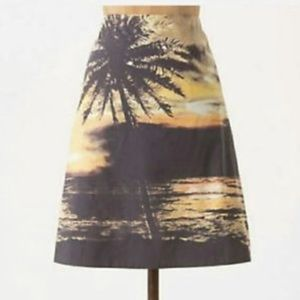 Anthropologie HD in Paris palm tree beach skirt
